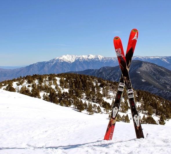 ski de randonnée sur le Canigou