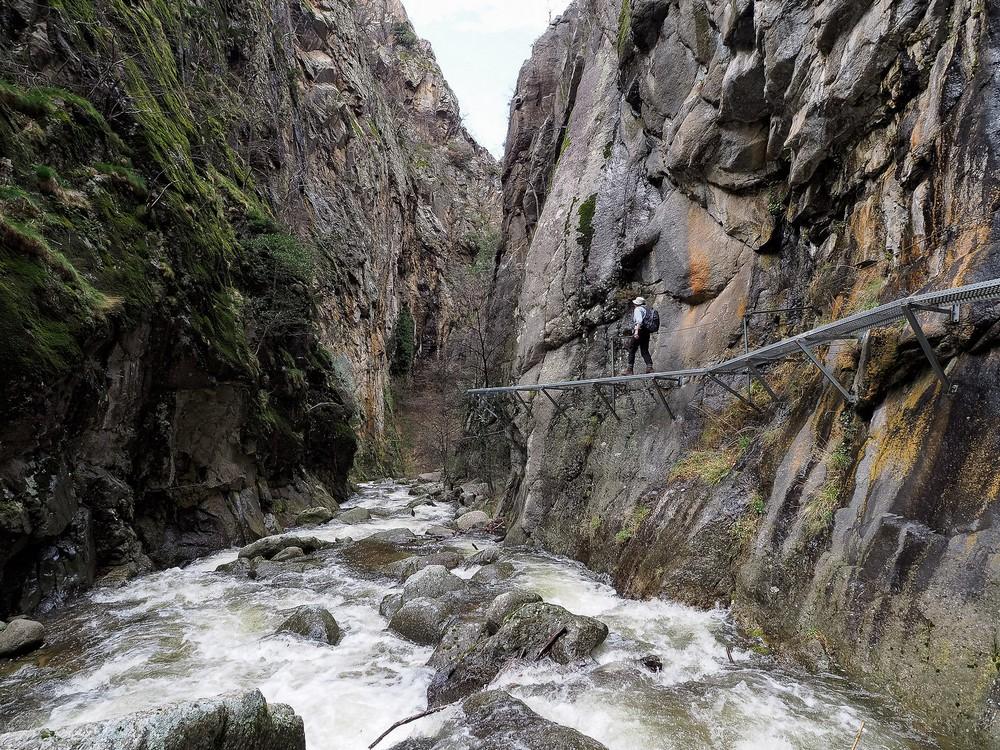 ponts suspendus gorges de la caranca