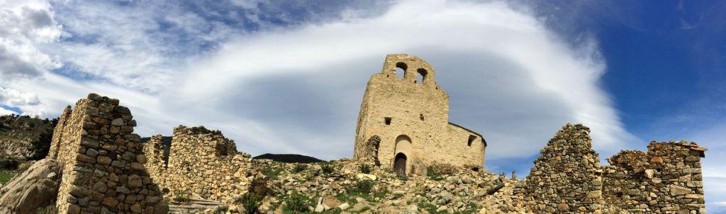 Village abandonné au dessus d'Eus Pyrénées