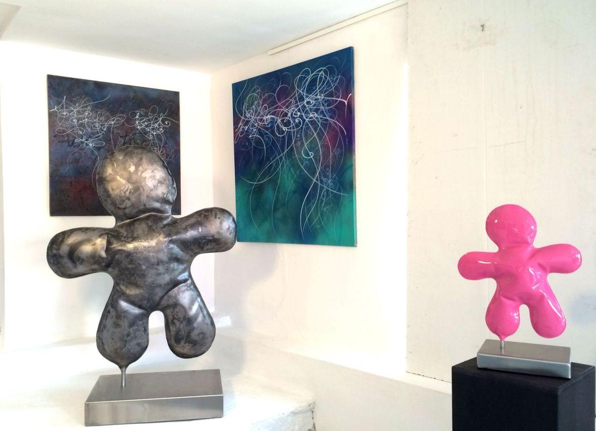 Sculptures en métal soufflé - Bonhommes
