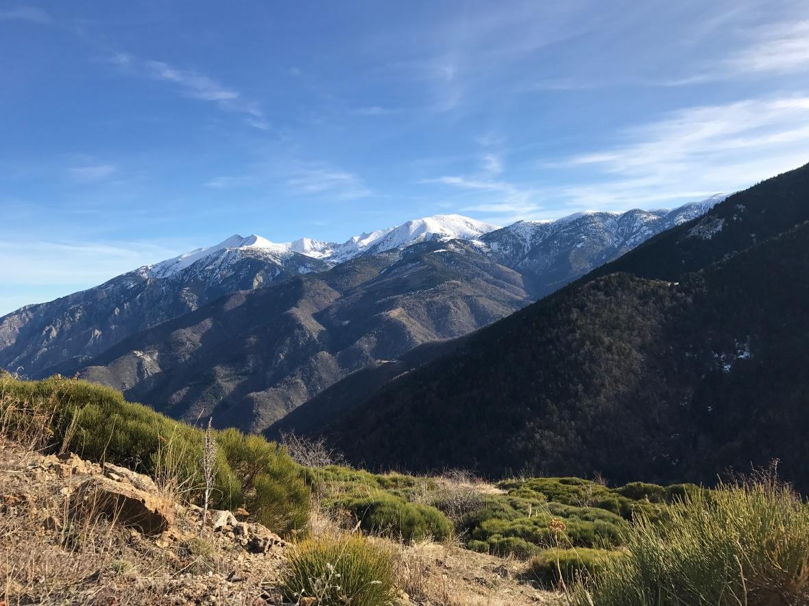 Le massif du Canigou vu depuis le col de Mantet Py