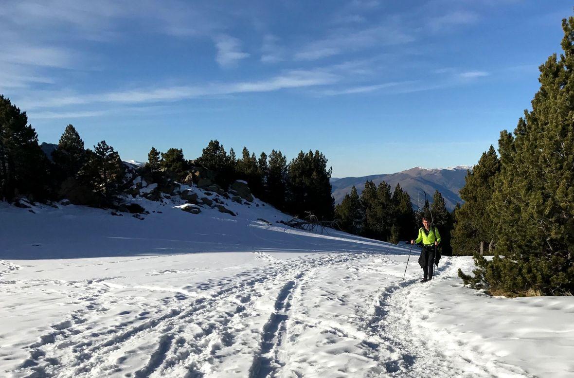 montée à ski nordique vers le pla Ségala