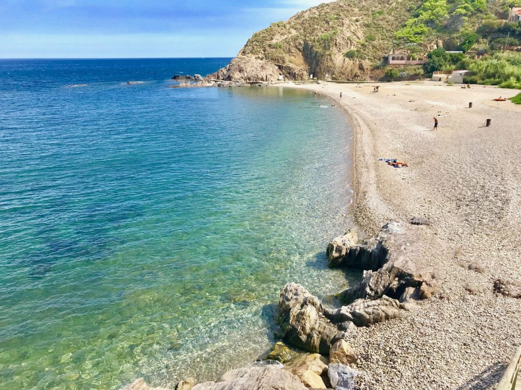 Criques cachées naturiste nudiste des Porteills - entre Argelès et Collioure ouille