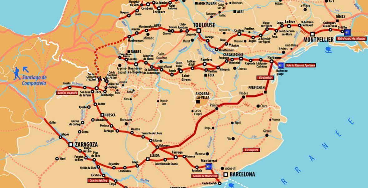 chemin catalan saint jacques compostelle
