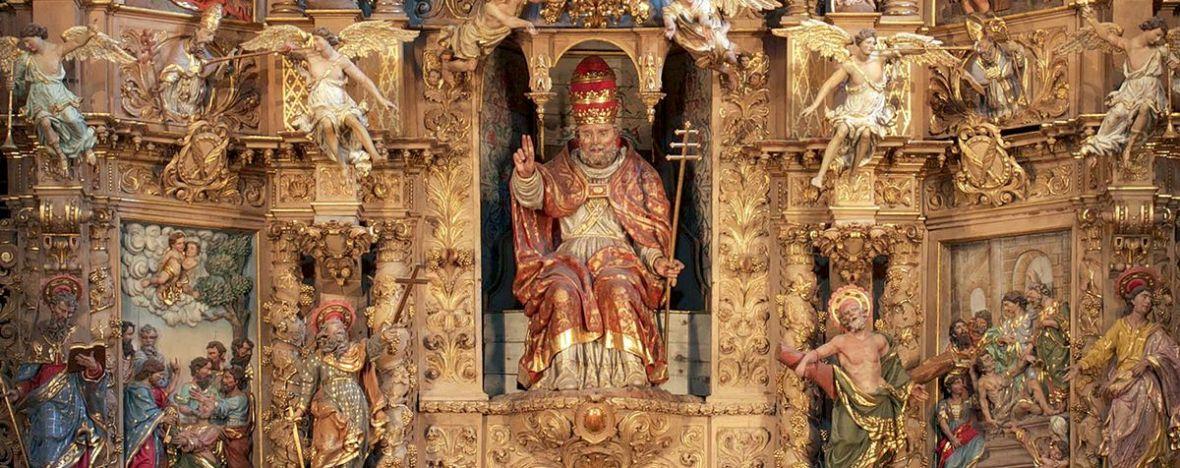 retable baroque prades compostelle catalan