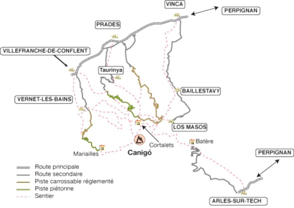 piste VTT / Voiture vers les Cortalets Canigou
