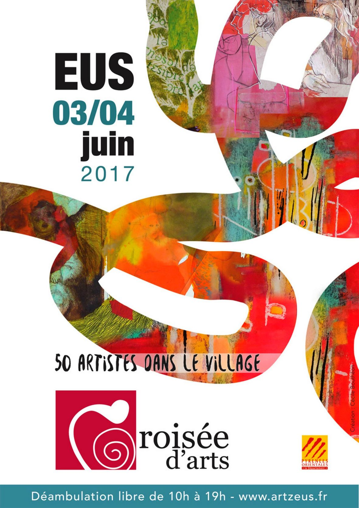 Croisée d'aRt - village d'Eus juin 2018 festival exposition art contemporain village catalan occitanie France