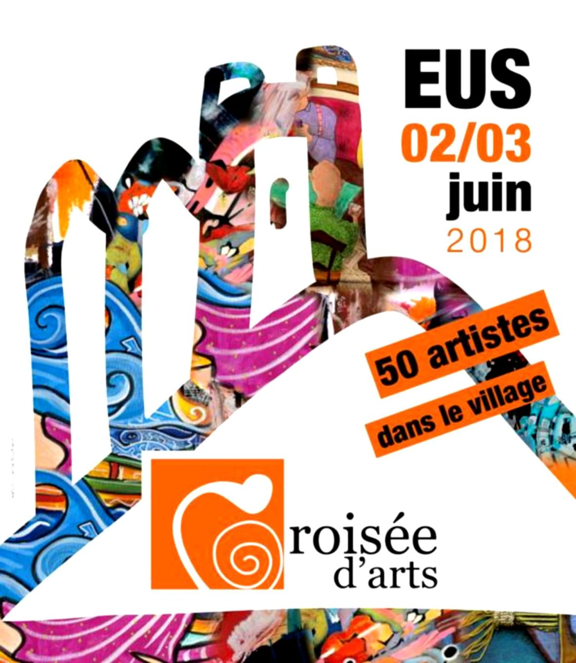 Croisée d'aRt - village d'Eus juin 2018 festival exposition art contemporain village catalan occitanie