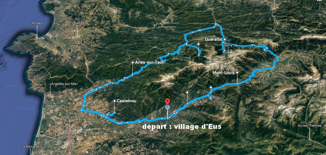 boucle villages beau pyrenees catalan