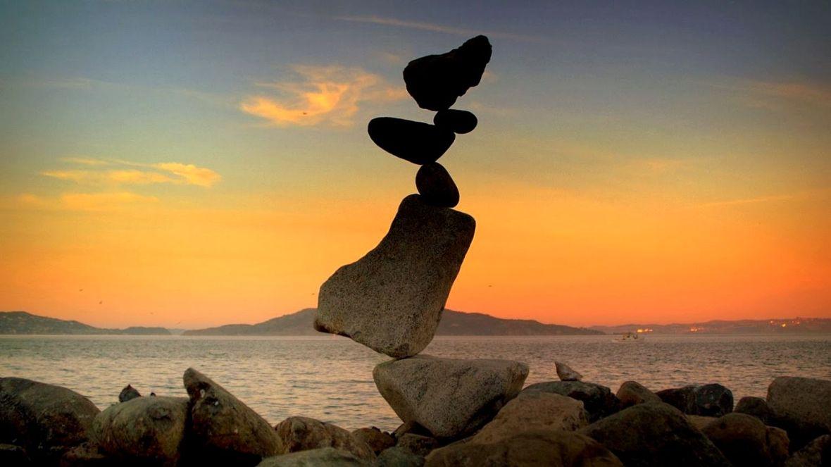 art meditatif rock balance