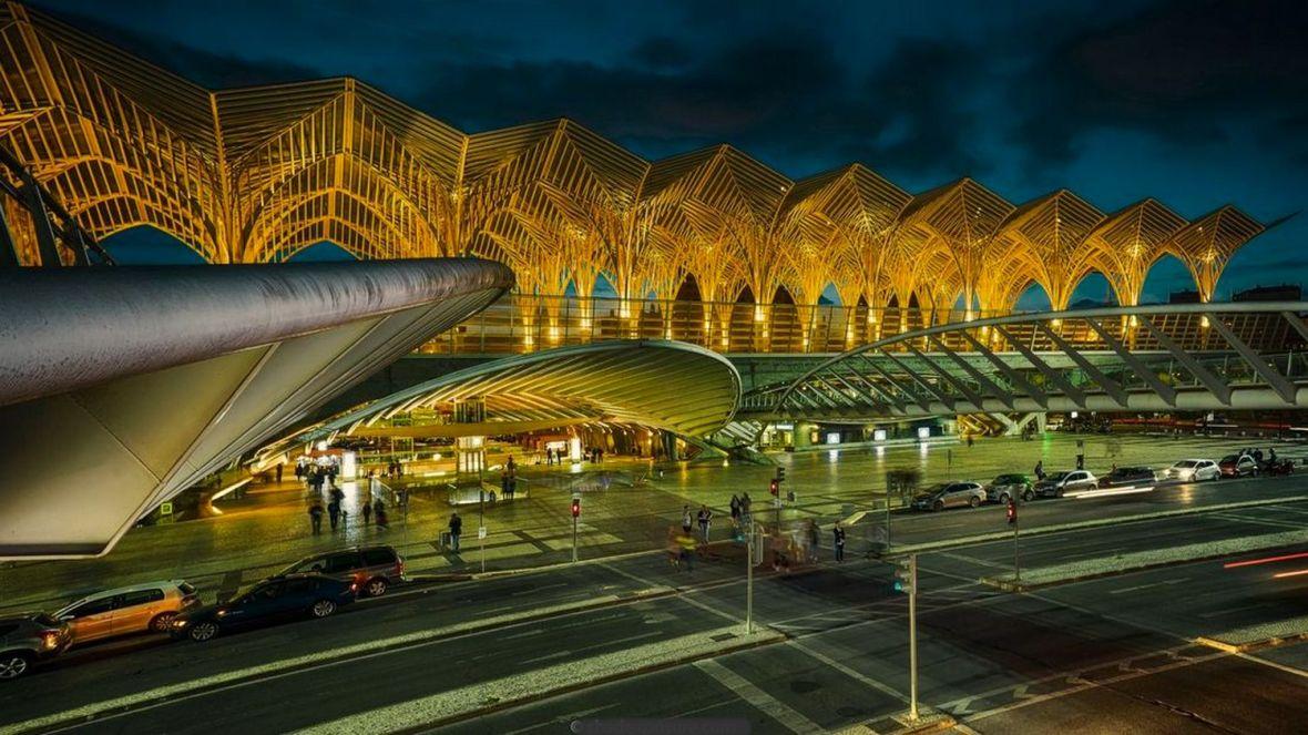 gare futuriste Lisbonne - ligne orient