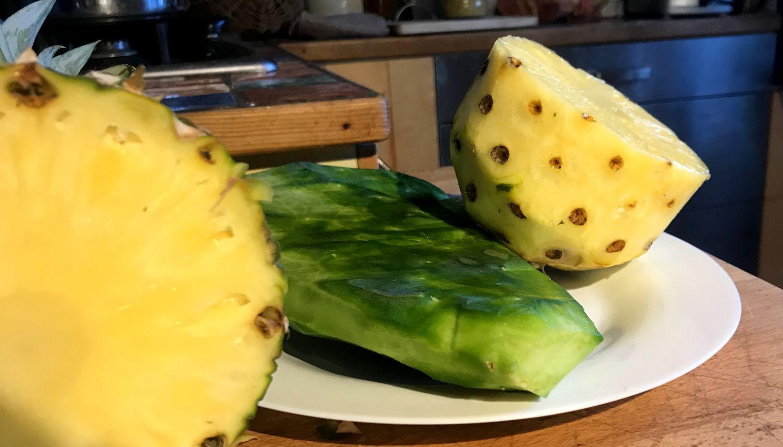 licuado ananas abacaxi nopal