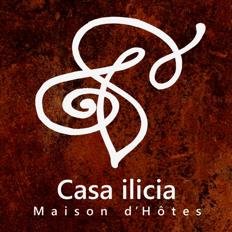 Logo maison hotes charme symbole hotel pyrenees occitanie village typique