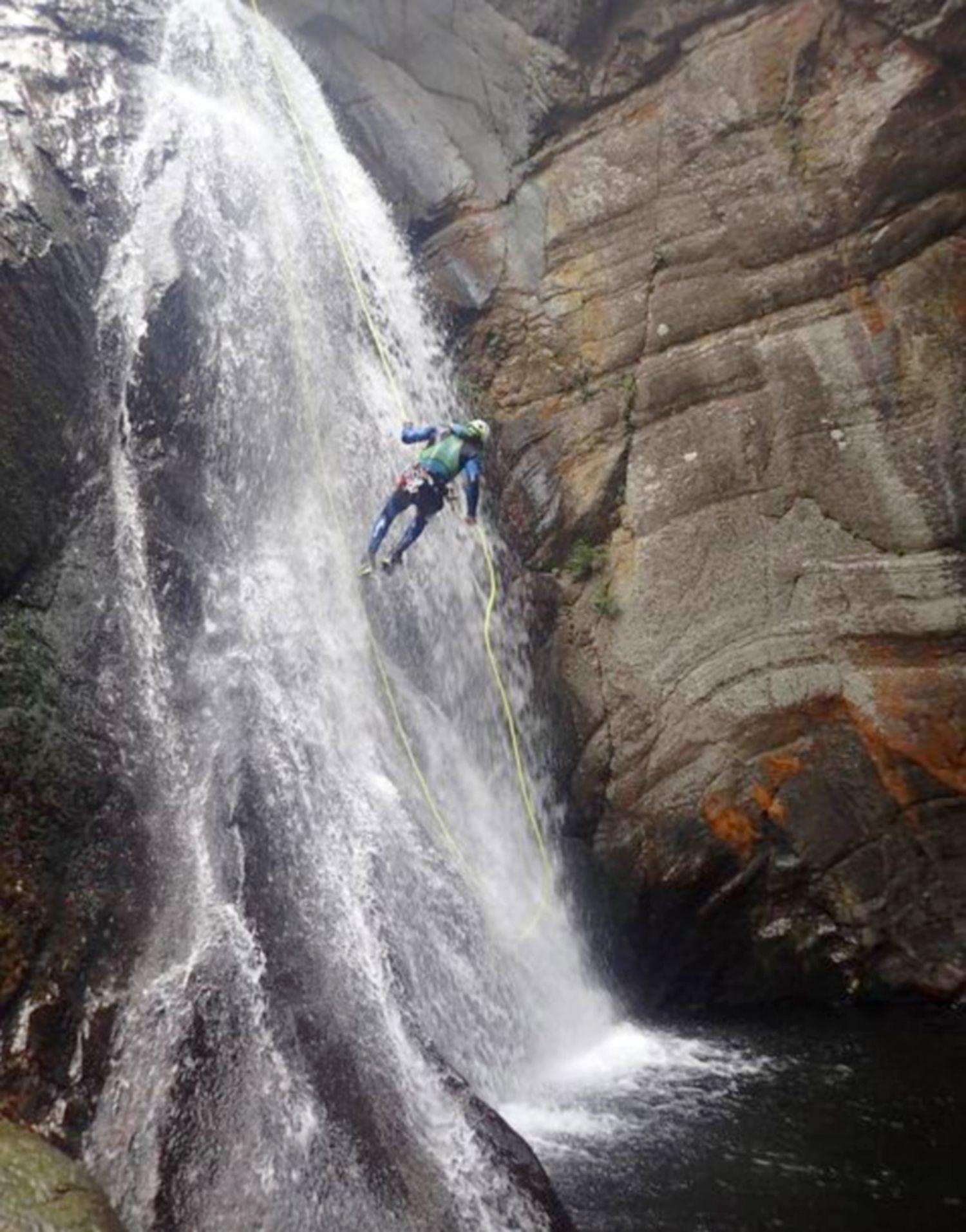de cascade du llec canyon baranquisme hotel llech pres de prades