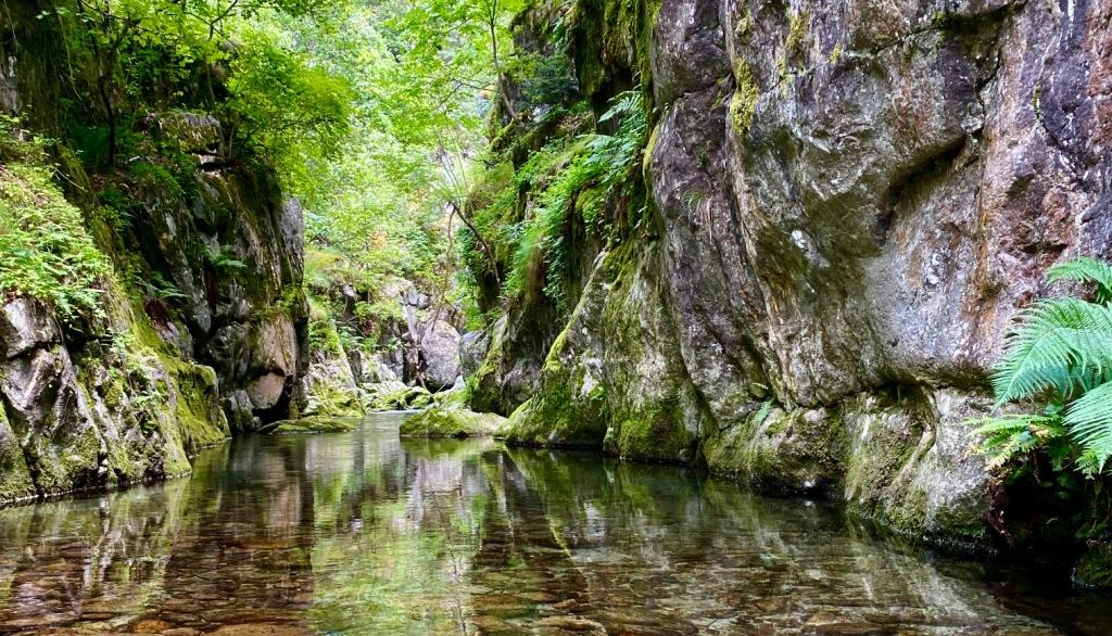 fraicheur des gorges baignade canigou canyon cascade