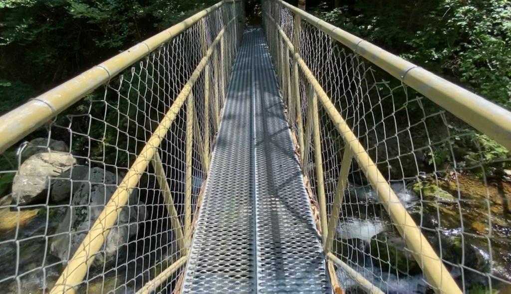 passerelle et pont gorges canigou