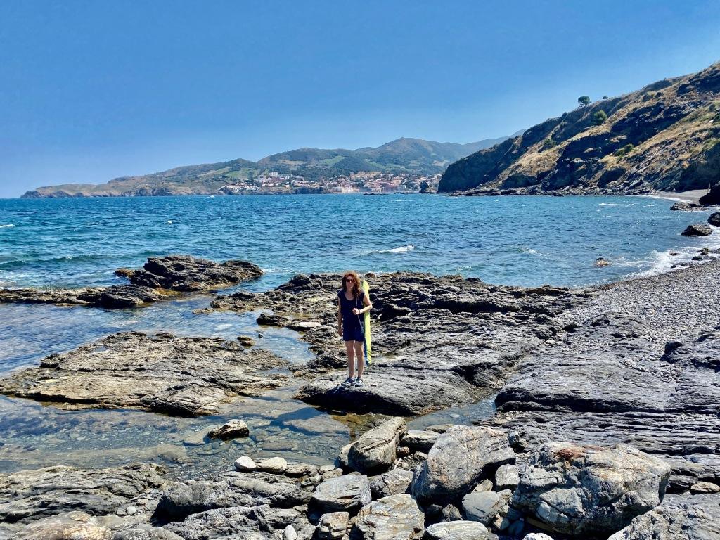 crique naturelle et naturiste pres de Paulilles et Banyuls sur mer belle crique collioure
